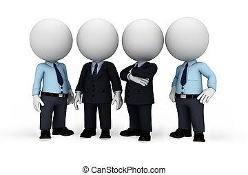 人, 白色, 3d, 商業界人士