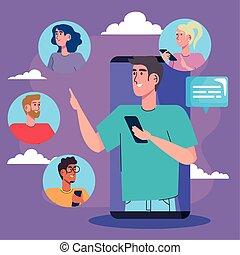 人, 社區, 社會, 媒介, smartphone