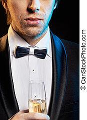 人, 香檳酒, 喝酒, 年輕, 漂亮