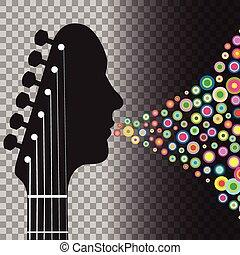 人, headstock, 圈子, 吉他