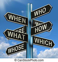 什麼, 路標, 當時, 研究, brainstorming, 混亂, 那裡, 為什么, 顯示