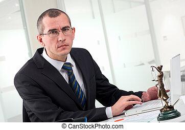 他的, 工作場所, 律師