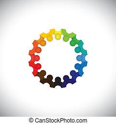 代表, 人們, 社區, 孩子, 會議, -, 幼儿園, 也, vector., 雇員, 環繞, 鮮艷, 玩, 插圖, 孩子, 學校, 圖表, 學生, 這, 一起, 等等, 罐頭, 或者