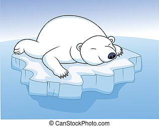 休息, 北極熊, 冰