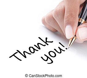 你, 手, 感謝, 寫