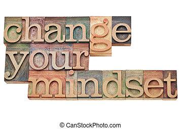 你, 變化, mindset