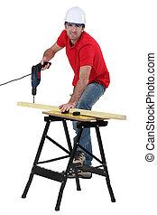 使用, 木匠, 操練, 無繩