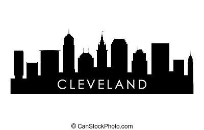 俄亥俄, 克利夫蘭, silhouette., 地平線