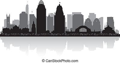 俄亥俄, 地平線輪廓, 辛辛那提, 城市