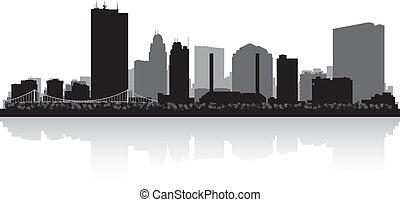 俄亥俄, 地平線, toledo, 黑色半面畫像, 城市