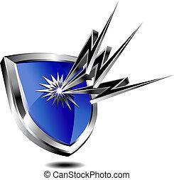 保護, 盾, 閃電