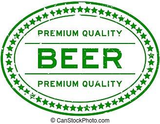 保險費, 綠色的啤酒, 橢圓形, 詞, 白色, grunge, 封印, 郵票, 橡膠, backgoround, 質量