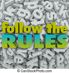 信, 規則, 方針, 規章, 背景, 跟隨, 3d