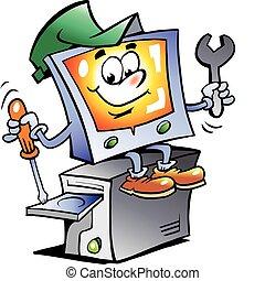 修理, 電腦, 吉祥人
