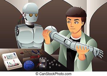 做, 機器人, 人