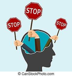 停止  路標