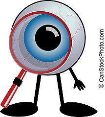 偵探, 眼睛