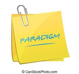 備忘錄, paradigm, 設計, 插圖