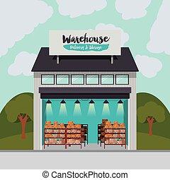 儲存, 交付, 倉庫, 設計