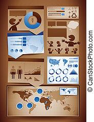 元素, 設計, infographics