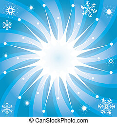光線, 雪花, 背景, 聖誕節
