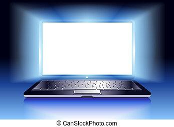 光, 便攜式電腦