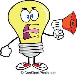 光, 擴音器, 尖聲叫, 燈泡