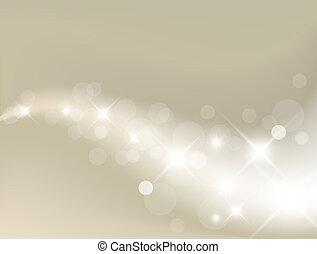 光, 背景, 銀, 摘要