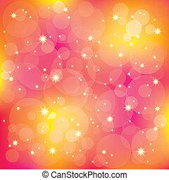 光, 閃耀, 背景, 鮮艷, 星