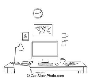 內部, 略述, 現代, 辦公室