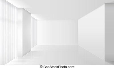 內部, 白色, 矢量, 空