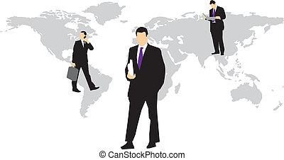全球的商務, 人們