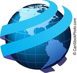 全球的通訊, 矢量, -