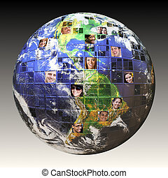 全球, 人們, 网絡