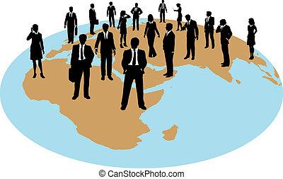 全球, 力量, 商業界人士, 工作, 資源