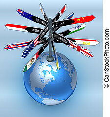 全球, 旅遊業, 事務