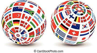 全球, 旗, 世界
