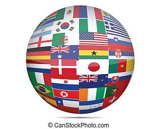 全球, 旗