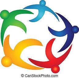 全球, 標識語, 矢量, 配合, 人們