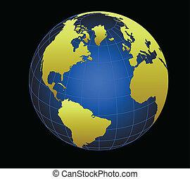 全球, 矢量