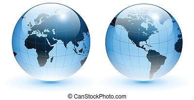 全球, vector., 世界