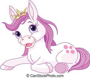 公主, 休息, 漂亮, 馬
