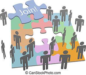 公司, 社會, 加入, 難題, 人們