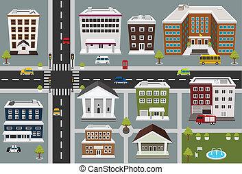 公眾, 地圖, 區域, 服務