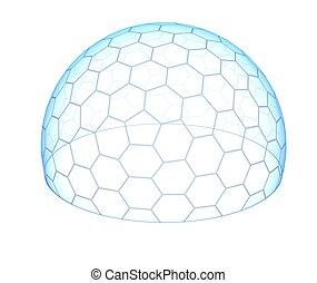 六角形, 透明, 圓屋頂