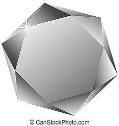 六角形, 鑽石, 白色, 針對