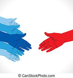 准備好, 握手