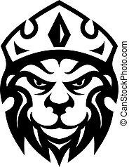 凶猛, 加冕, 頭, 獅子