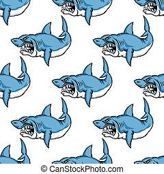 凶猛, 鯊魚, 捕食其他動物, 游泳