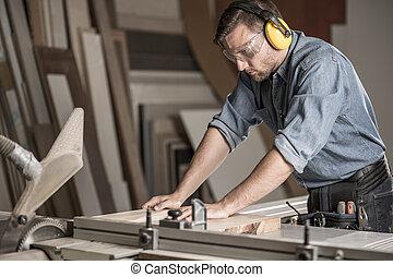 切, 工作台, 木頭, 木匠